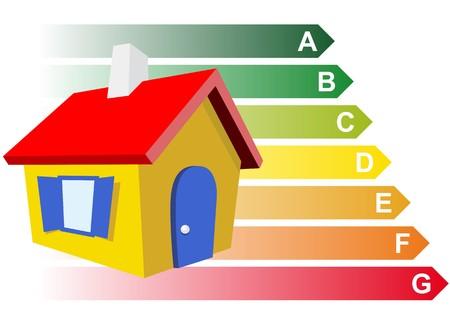 heating: sustainable home Illustration