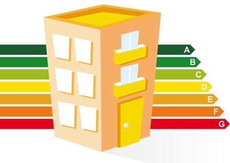 heating: sustainable building Illustration