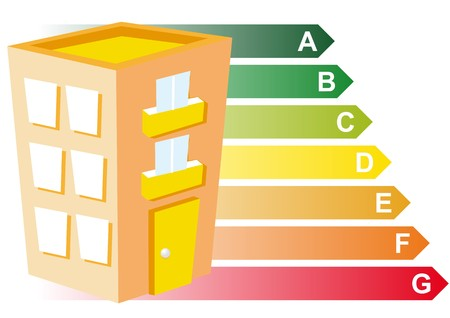 sorting: sustainable building Illustration
