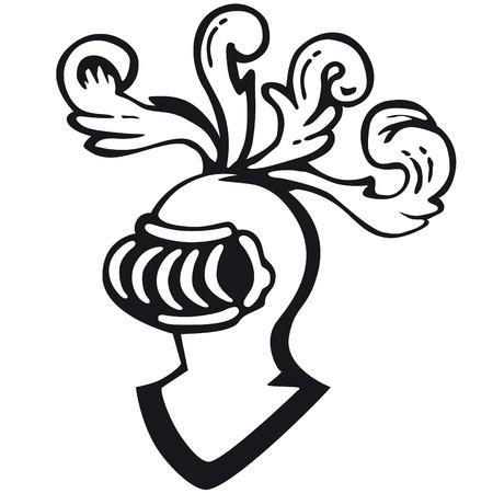 highness: armor helmet Illustration