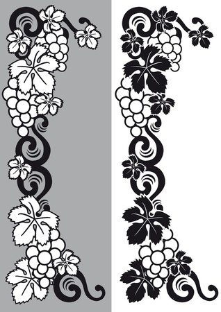 liquor: decorative grapes
