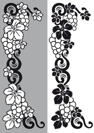 sommelier: uvas decorativos