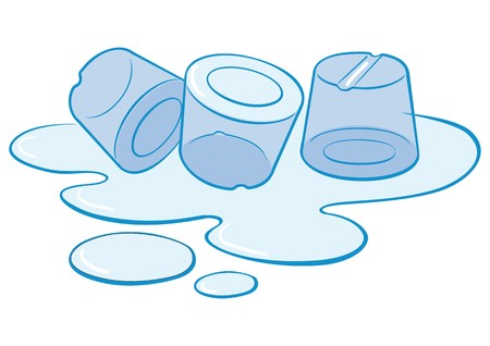 thaw: ice cubes