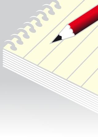 notebook Stock Vector - 7796225