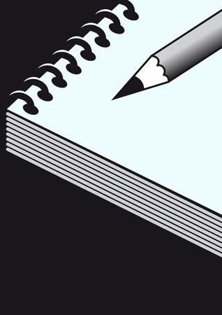 blue notebook Stock Vector - 7796213