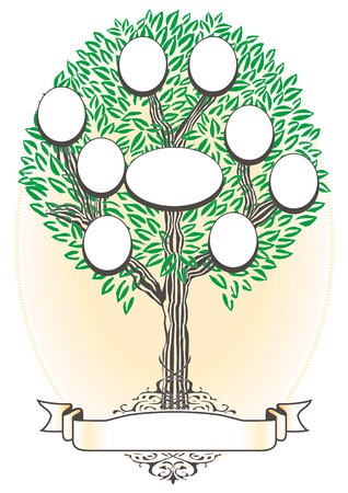 old family: Family Tree - Genealogy Illustration