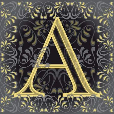 decorated letter a Stock Vector - 7821590