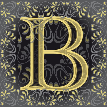 decorated letter b Vector