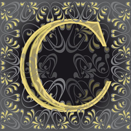 decorated letter c Vector