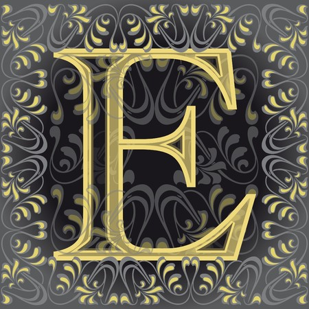 decorated letter e Vector