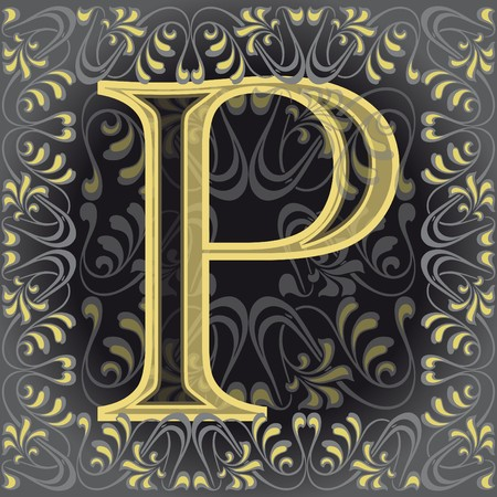 initial source: decorated letter p Illustration