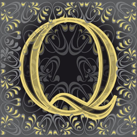 initial source: decorated letter q Illustration