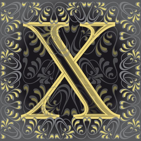 initial source: decorated letter x