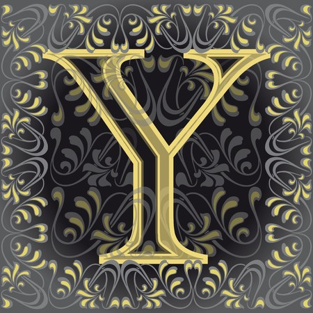 decorated letter y Vector
