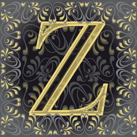 decorated letter z, zeta Stock Vector - 7821599