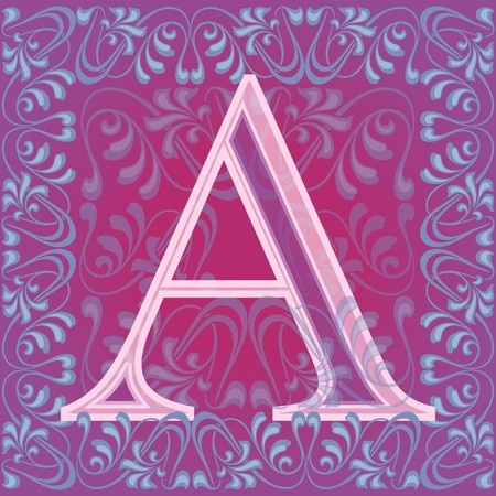 decorated letter a Stock Vector - 7821597