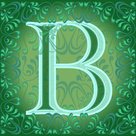 decorated letter b Stock Vector - 7821645