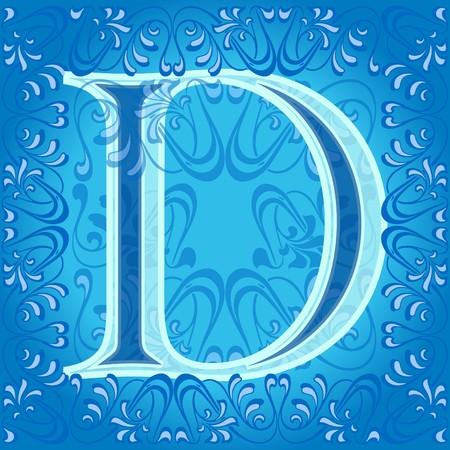 decorated letter d Stock Vector - 7821617