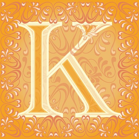 initial source: decorated letter k, key Illustration