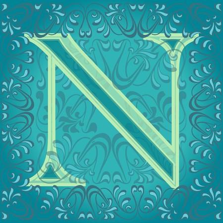 decorated letter e, en Stock Vector - 7821595