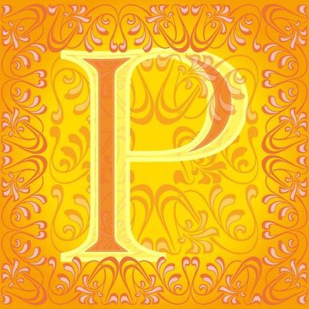 decorated letter p Vector