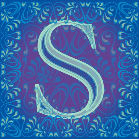 decorated letter s Stock Vector - 7821637