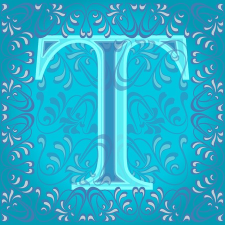 decorated letter t Stock Vector - 7821603
