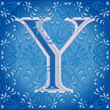decorated letter y Stock Vector - 7821612