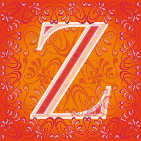 decorated letter z, zeta Stock Vector - 7821589