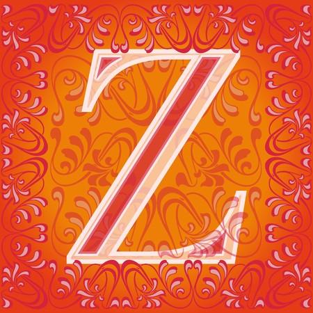 buchstabe z: dekoriert Buchstaben Z, Zeta  Illustration