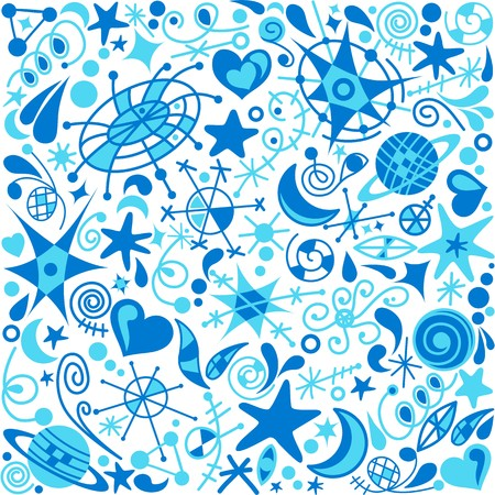 galactic background Stock Vector - 7821576