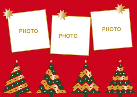 fir tree balls: Christmas card