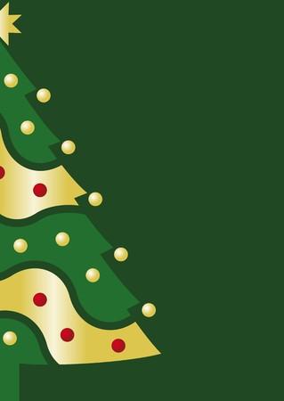 Christmas card green Vector