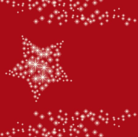 Christmas card star red Vector