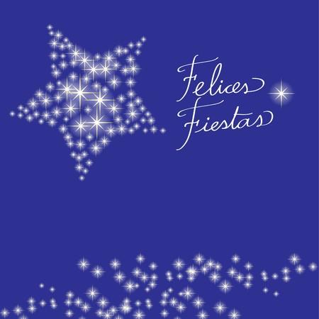 Christmas card star spanish Vector