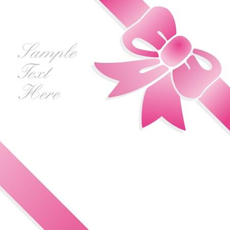 lazo rosa: tarjetas de regalo de bucle  Vectores