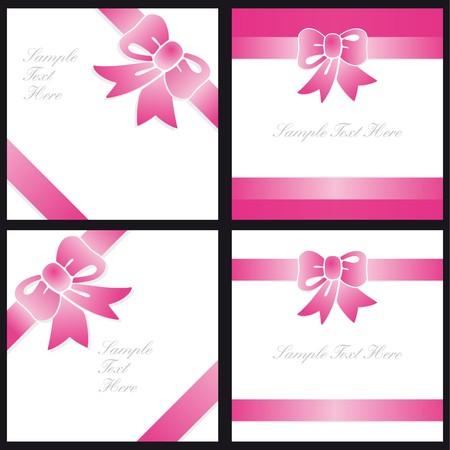 Gift Cards pink polka dots Vector