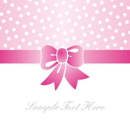 gift card with pink polka dots Vector