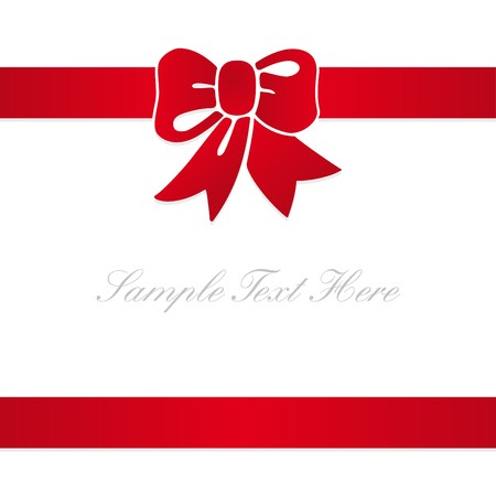 card with a red ribbon Illustration