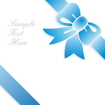 card blue tie Stock Vector - 7821666