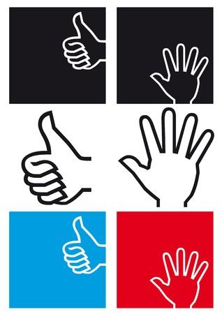 10 fingers: hand icon