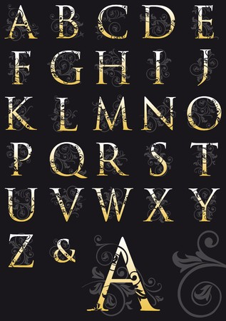 decorated alphabet Vector