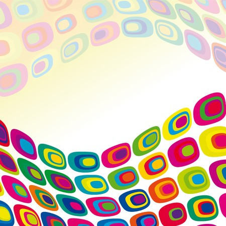 psychedelia: abstract multicolored background Illustration