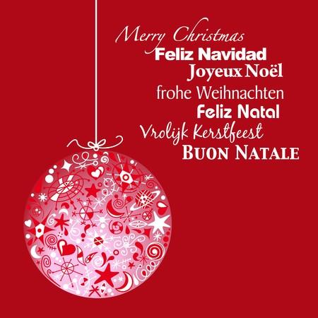 language Christmas greeting Stock Vector - 7822908