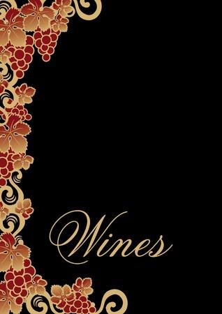 bordure vigne: carte des vins