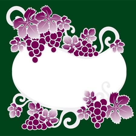 wine grower: wine label grapes