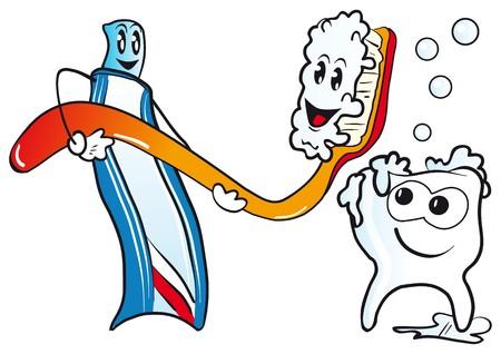 toothpaste tube: dentist Illustration