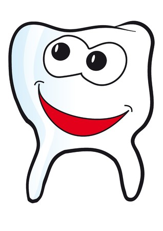 secluded: tooth grinning Illustration