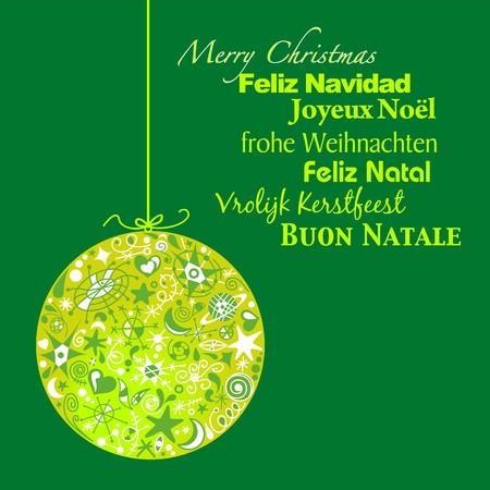 language Christmas greeting Vector