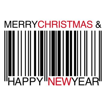 good wishes: Christmas barcode